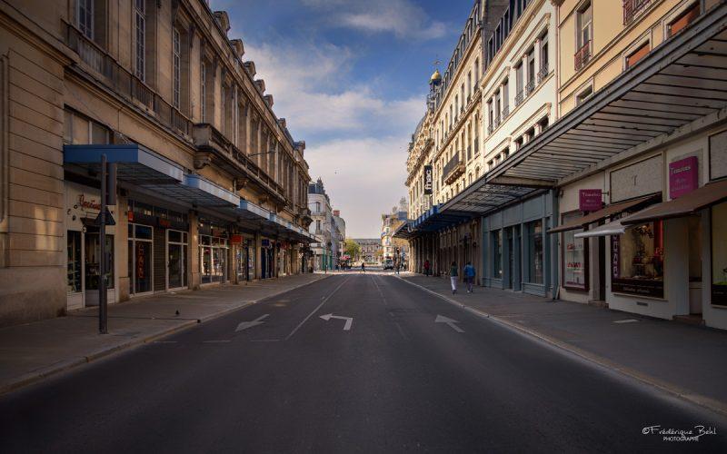 La ville est vide pendant le confinement.