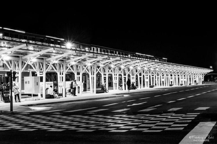 Les quais de la gare routière de Troyes